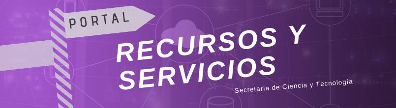 Botón de acceso al Portal Recursos y Servicios de la SeCyT