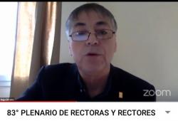 Rector de la UNPA, Ing. Hugo Rojas