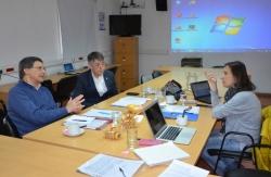 Reunión con el Rector Hugo Rojas y la titular de la SeCyT, Sandra Casas